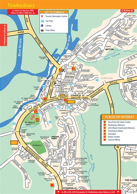 map  tewkesbury exploregloucestershirecouk