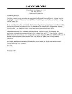 Security Cover Letter by Leading Professional Professional Security Officer Cover Letter Exles Resources