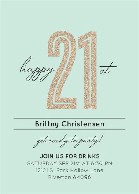 21 Year Old Birthday Invitation Template Orderecigsjuice Info 21st Birthday Invitation Card Template