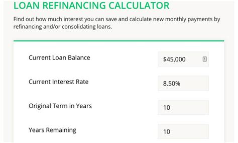 Mba Student Loan Rates by Student Loan Refinancing Calculator College Reviews