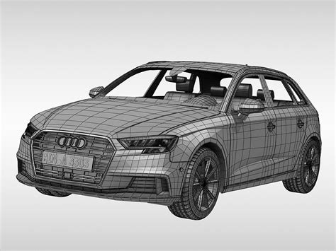 Ma E Audi A3 Sportback by Audi A3 Sportback 2017 3d Model Max Obj 3ds Fbx Ma Mb