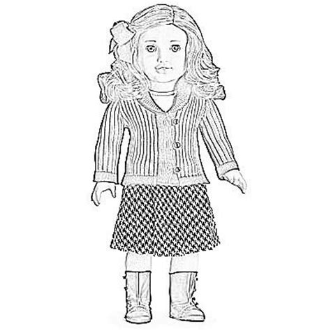 american girl doll coloring pages lea clark pict 61716