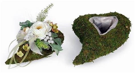 Reagenzgläser Für Blumen by Moos Herz F 195 188 R Grabgestecke