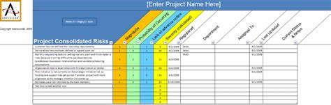 Advanced Raci Chart Advisicon Project Management Register Template