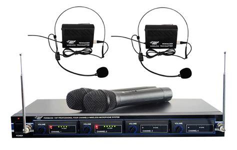 Rack Mount Wireless Microphone System by Pyle Pdwm4300 Vhf Wireless Rack Mount