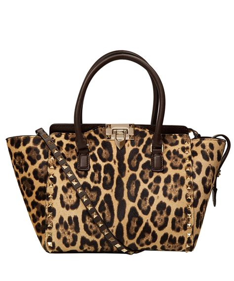 Valentino Leopard Print Bag by Valentino Leopard Print Rockstud Ponyskin Bag In Animal