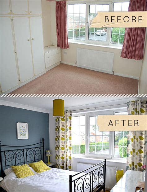 before after a bedroom goes from beige to
