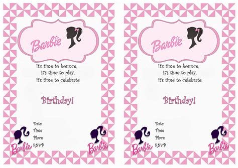 free printable barbie birthday decorations barbie birthday invitations birthday printable