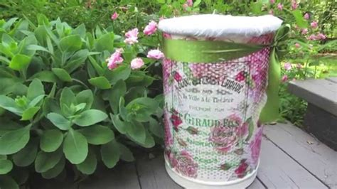Decoupage Trash Can - 17 beste afbeeldingen d 233 coupage en servetten op