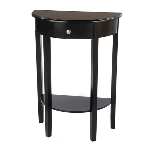 half round accent tables bianco collection espresso half moon round table