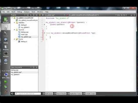 qt tutorial events qlabel videolike
