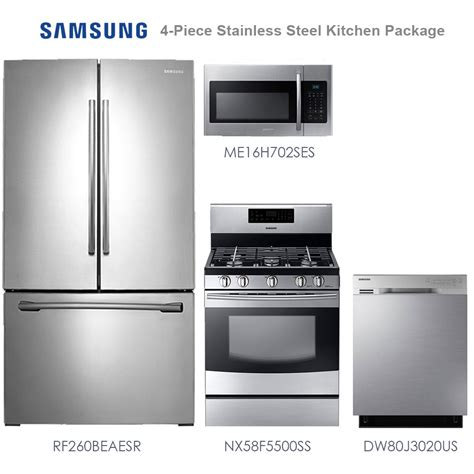 4 piece kitchen appliance package stainless steel 4 stainless steel kitchen appliance package frigidaire