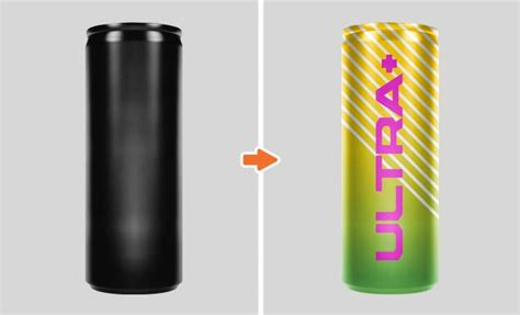 energy drink template cans and cups and bottle mockup