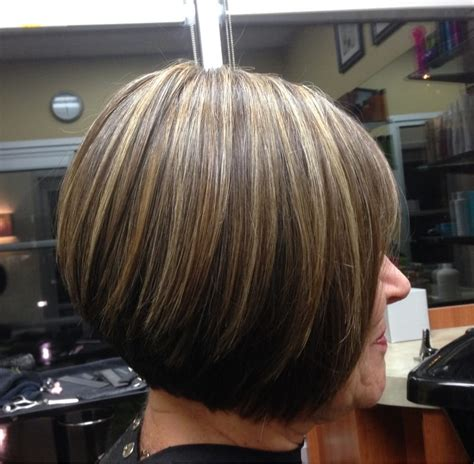bob hair with high lights and lowlights short inverted bob with highlights and lowlights short