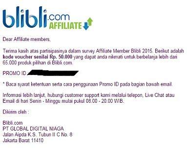 blibli voucher alhamdulillah dapat voucher belanja gratis di blibli com