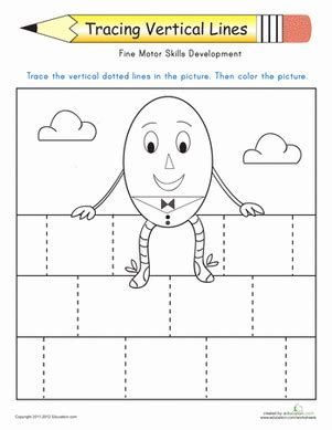 printable tracing vertical lines tracing vertical lines worksheet education com