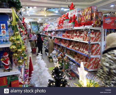 baghdad 18th dec 2015 people select christmas goods in