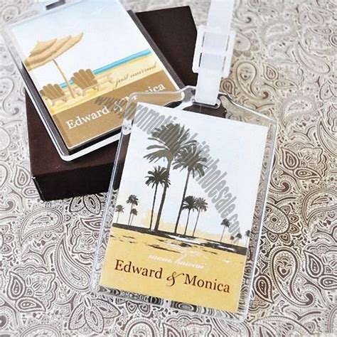 Wedding Favors Wholesale Suppliers by Acrylic Luggage Tag Wedding Favors Factories In China