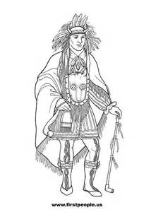 seminole indian coloring pages sketch template