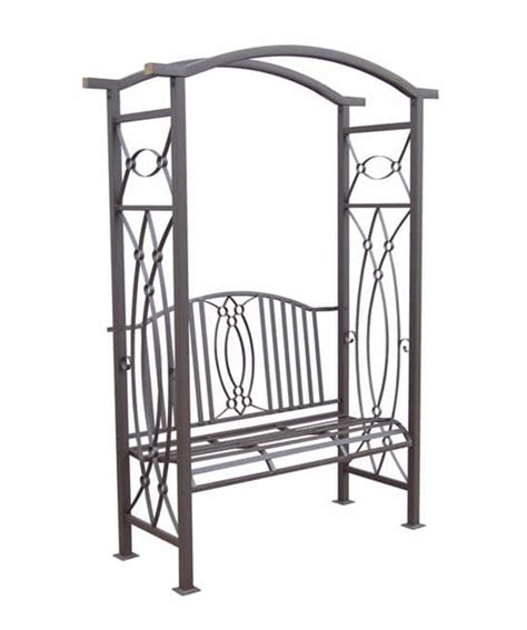 metal arbor with bench constantine wrought iron garden arbor with bench free