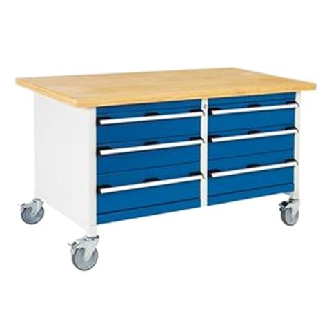 heavy duty workbench with drawers bott cubio mobile storage bench 6 drawers with multiplex