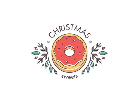 Layout Design Maker christmas sweets logo by anastasiia andriichuk dribbble
