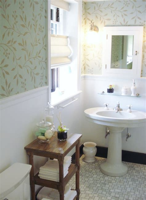 Bathroom With Wallpaper Ideas Awe Inspiring Thibaut Wallpaper Decorating Ideas Images In Bathroom Traditional Design Ideas