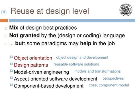 design pattern in object oriented software engineering software engineering design for reuse