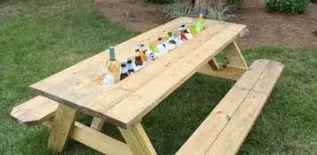 8 Foot Picnic Table How To Make A Picnic Table Drink Trough Today S Homeowner