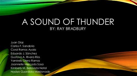 A Sound Of Thunder Essay by Essay Questions On A Sound Of Thunder Speechwritten X Fc2