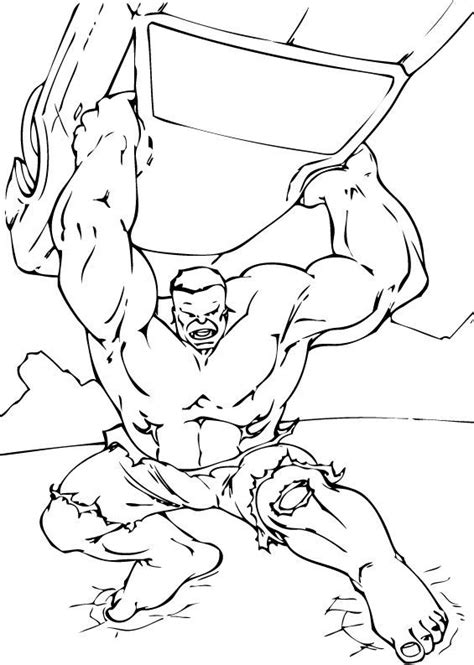 hulk lifts car coloring pages hellokidscom