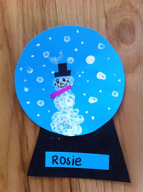 snow globe craft mommyapolis