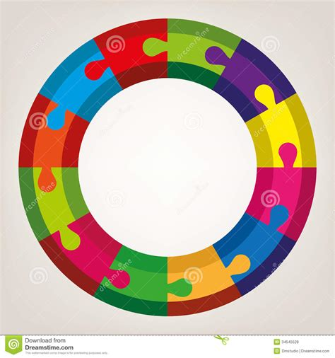 colorful round wallpaper vector round puzzle stock vector image of construction