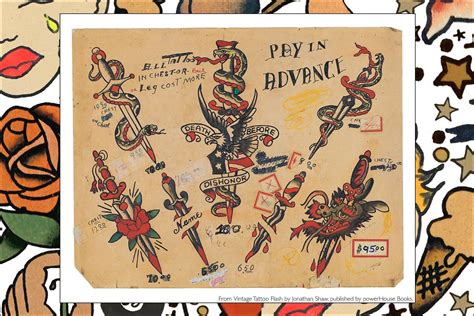 vintage tattoo flash jonathan shaw vintage tattoo flash jonathan shaw ponyboy magazine