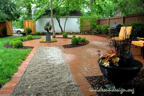 pea gravel backyard historic danville inside out design