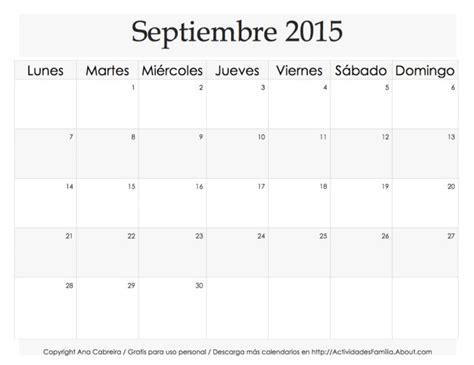 organiza t calendarios de septiembre gratis para descargar las 25 mejores ideas sobre calendarios para imprimir 2015
