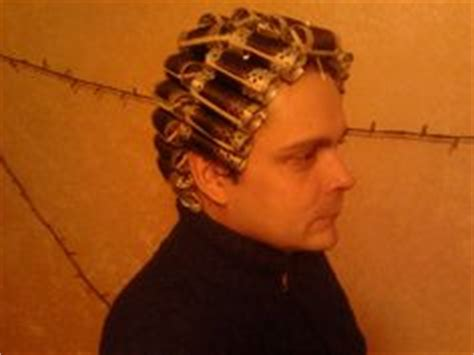 men setting hair on rollers tough guy perm curlers and rollers pinterest photos