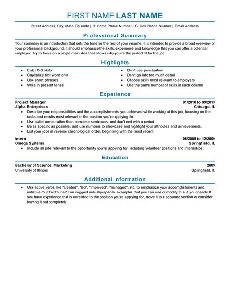 a resume template experience on a resume template learnhowtoloseweight net
