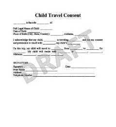 Permission To Take Child Out Of Country by Child Travel Consent Form Create A Letter Of Consent