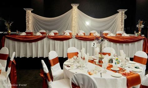 navy blue and burnt orange reception   Reception: Burnt
