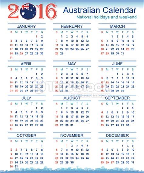 Calendar 2015 With Holidays Australia Australian Calendar 2016 Vector Thinkstock