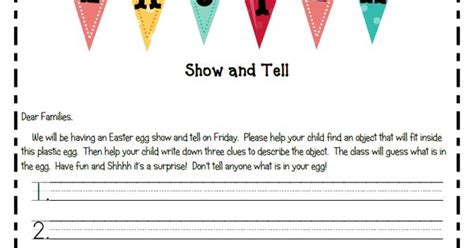 ideas for kindergarten show and tell easter show and tell what a great idea kindergarten