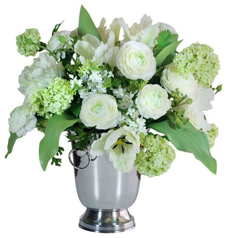 Artificial Flowers Vase by Garden Flowers In Vase Traditional Artificial Flower