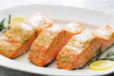 honey mustard baked salmon quick easy healthy simplyrecipes com