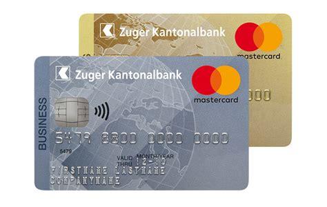 kreditkarte firma mastercard kreditkarte f 252 r firmen zuger kantonalbank