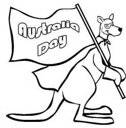 Australia Day Kangaroo Coloring Pages Australia Day Australia Day Coloring Pages