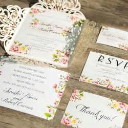 Unique Floral Wedding Invitations by Laser Cut Wedding Invitations