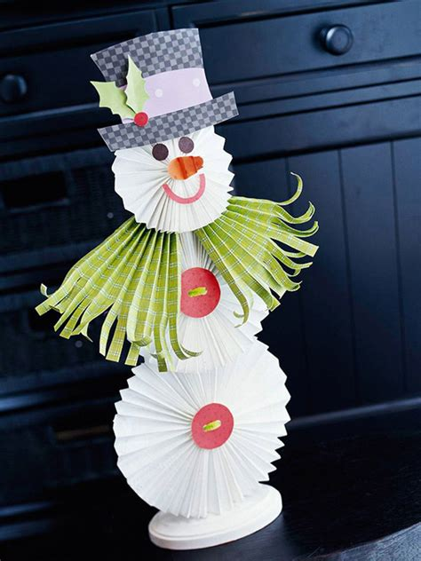 Paper Snowman Craft - 25 easy diy snowman crafts home design and