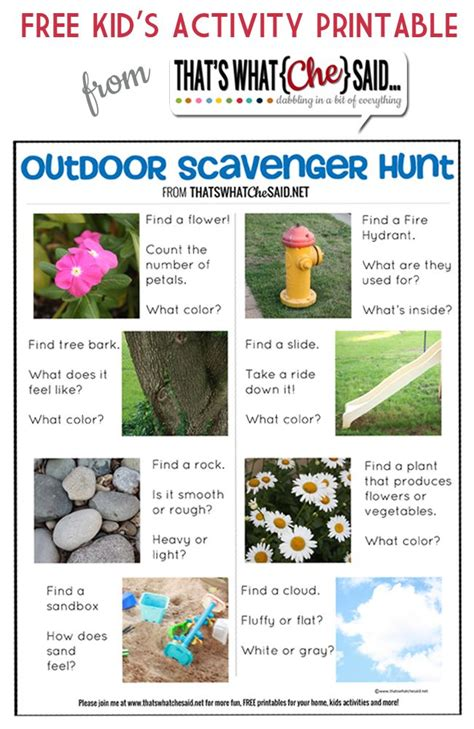 backyard scavenger hunt for kids outdoor scavenger hunt