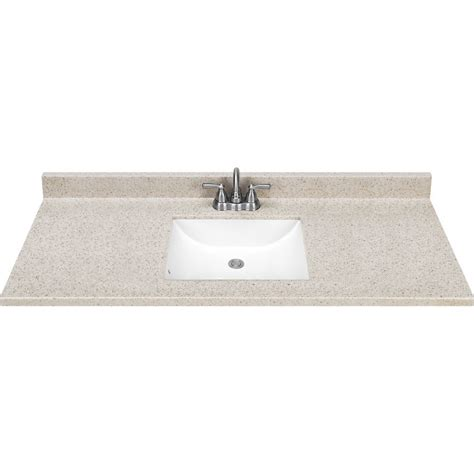 Vanity Top by Estate By Rsi Square Bowl Dune Cultured Marble Vanity Top